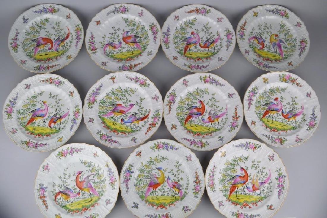 11 Chelsea Hand Painted Plates