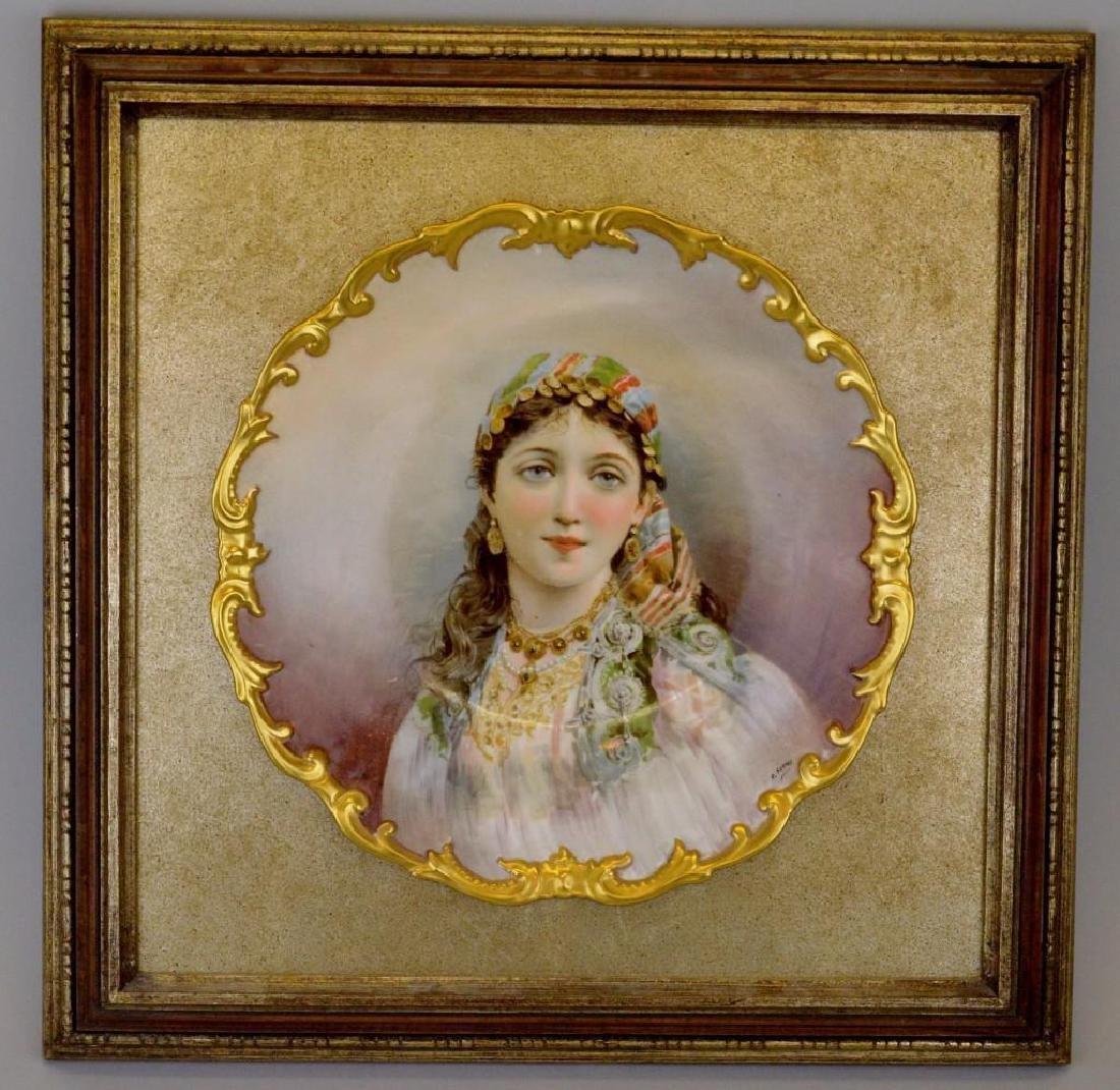 C. Durand Portrait Plate