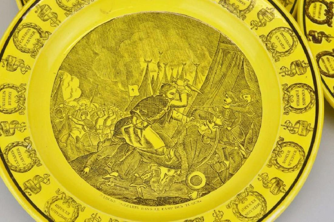 Collection of Canary Yellow Creil Plates - 3