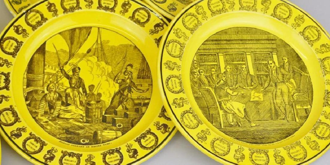 Collection of Canary Yellow Creil Plates - 4
