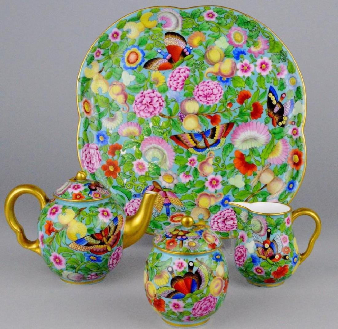 Enameled Soft Paste Tea Service