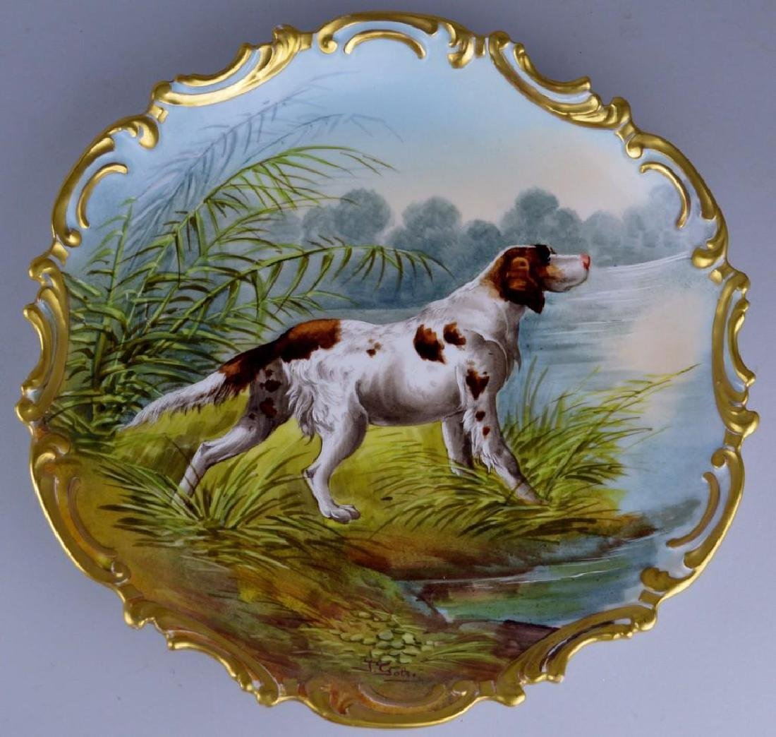 French Limoges Charger Grouping - 6