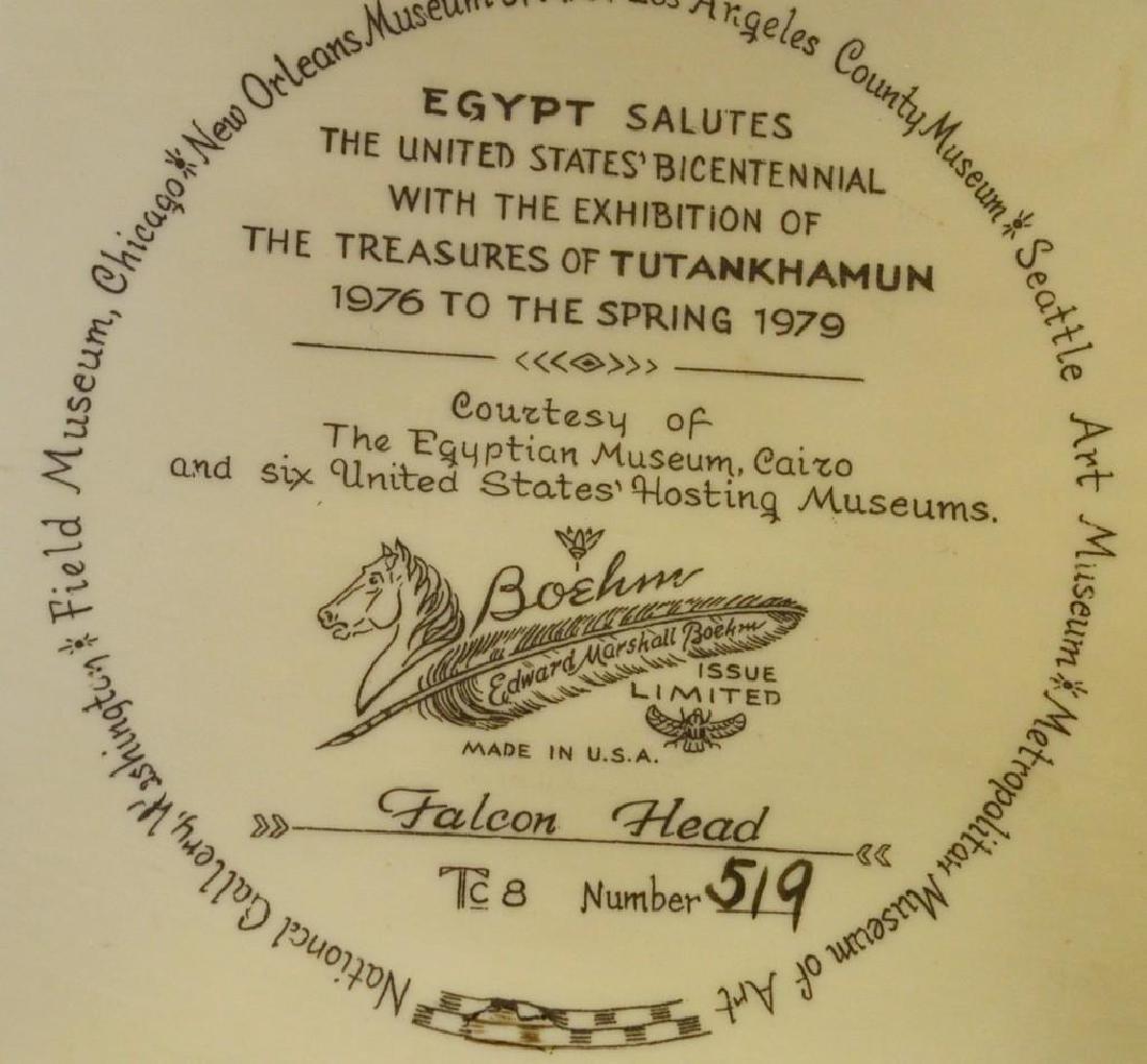 "Boehm Porcelain Treasures of Tutankhamun ""Falcon Head"" - 4"