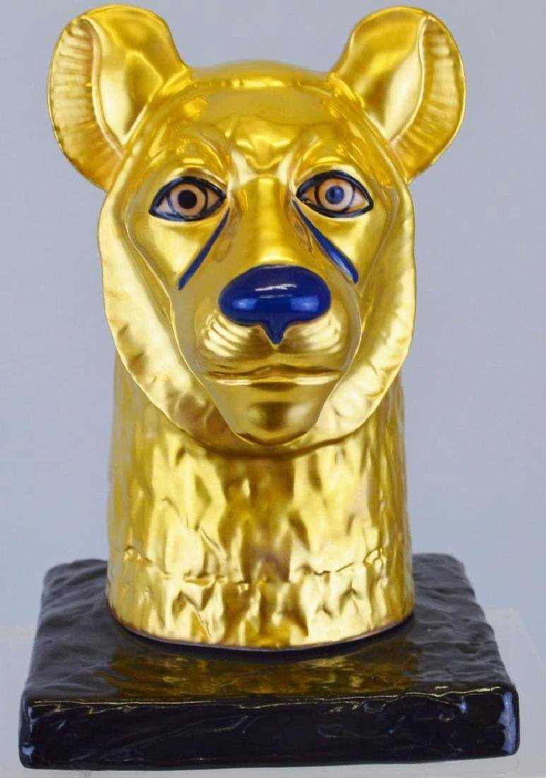 "Boehm Porcelain Treasures of Tutankhamun ""Cheetah Head"""