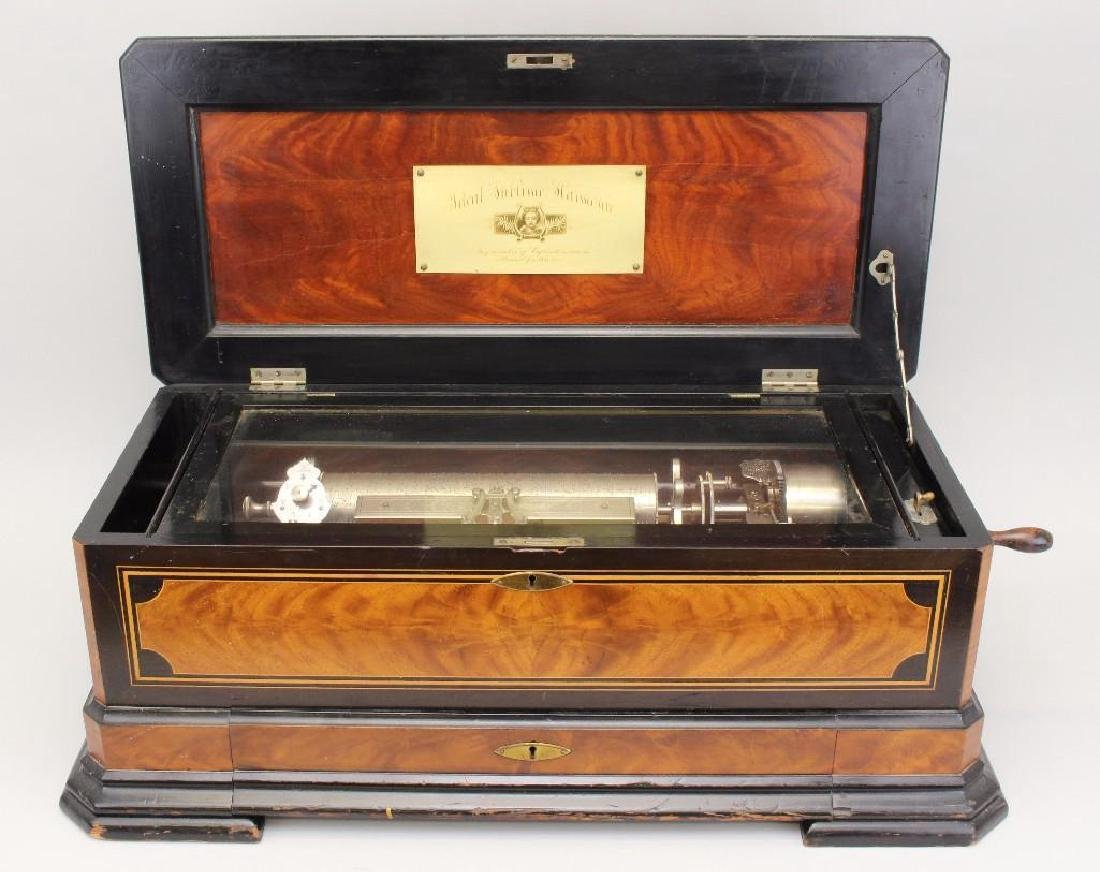 Swiss Interchangeable Cylinder Music Box - 3