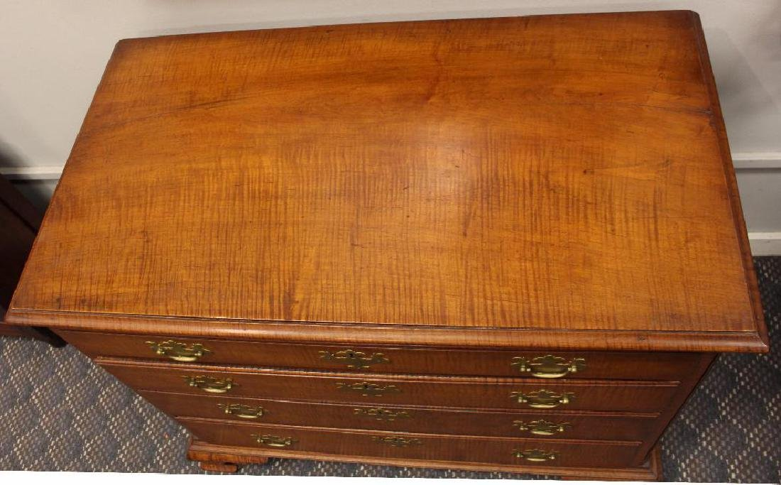 Chippendale Tiger Maple Chest of Drawers - 5