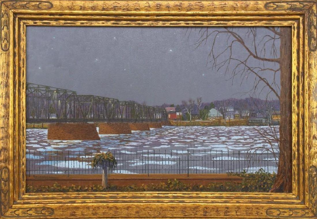 """Andrew Woehrel (b. 1958, Pennsylvania) """"Evening Ice"""