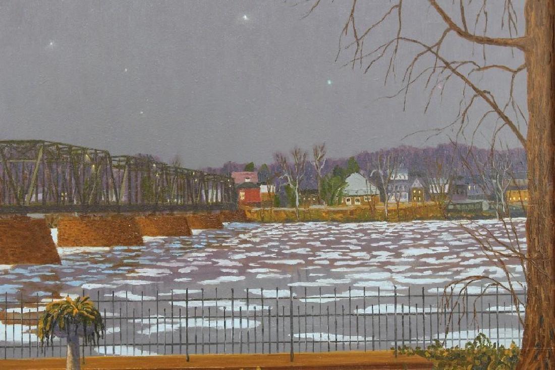 """Andrew Woehrel (b. 1958, Pennsylvania) """"Evening Ice - 2"""