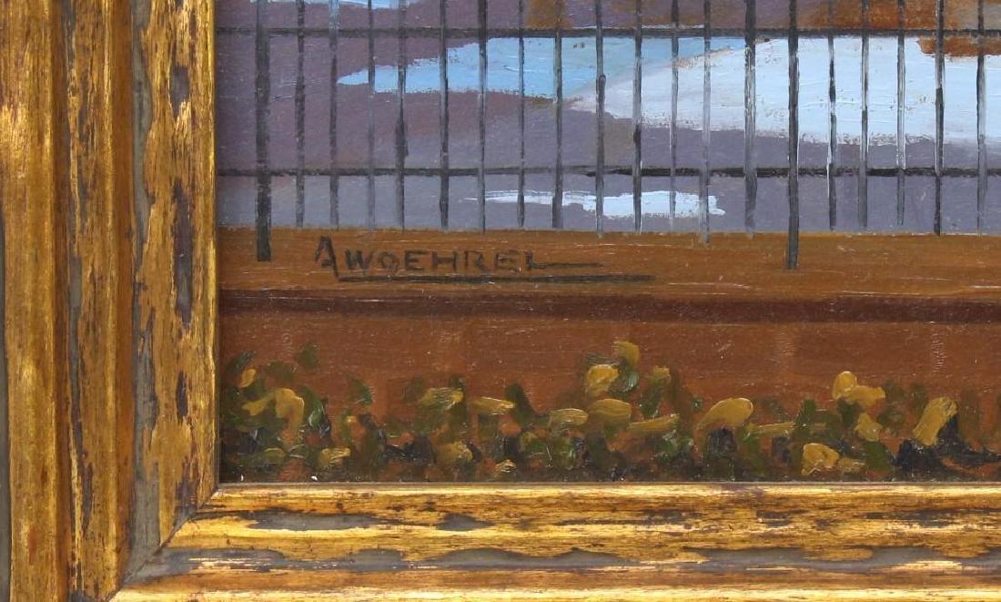 """Andrew Woehrel (b. 1958, Pennsylvania) """"Evening Ice - 3"""