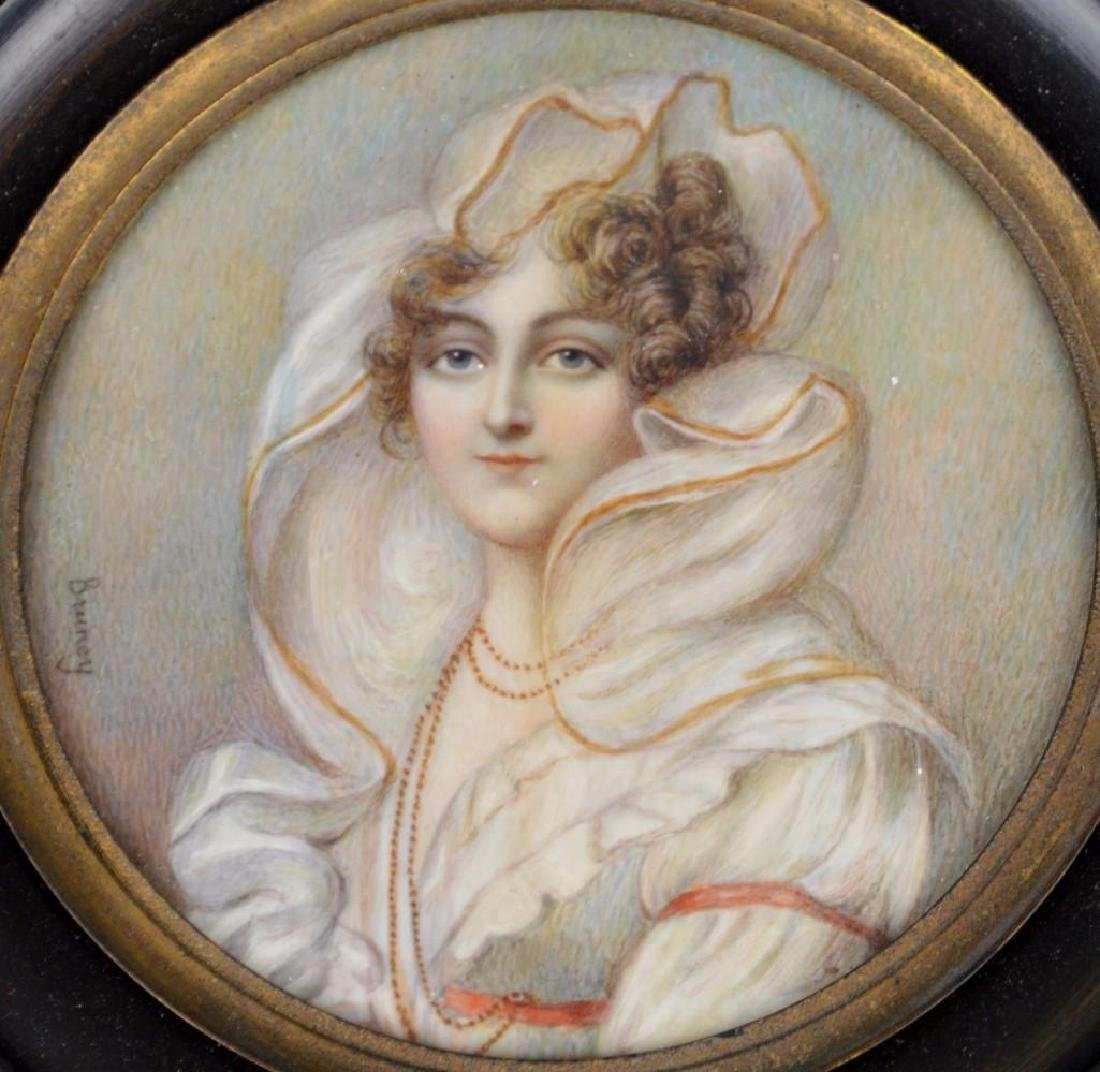 "19th c. Miniature Portrait, ""Countess de Beauchamp"" - 2"