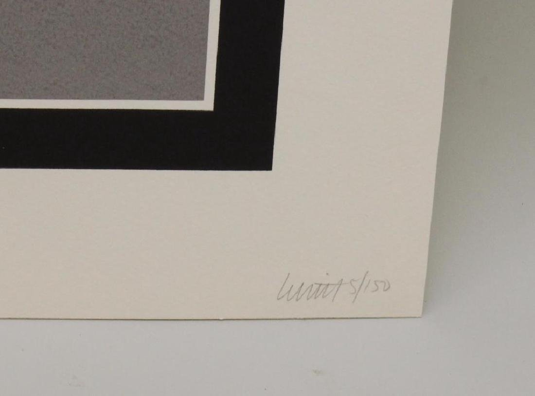 "Sol Lewitt (1928-2007, American) ""Double Cubes in Grays - 3"