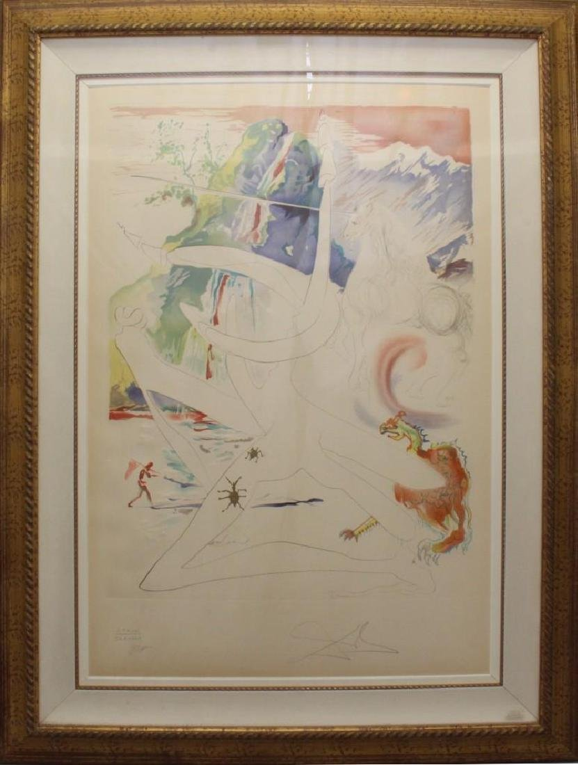 "Salvador Dali (1904-1989, Spain/France) ""Laser Unicorn"""