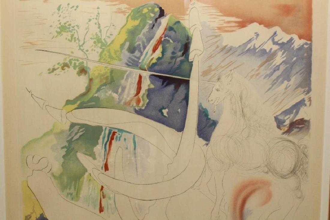 "Salvador Dali (1904-1989, Spain/France) ""Laser Unicorn"" - 2"