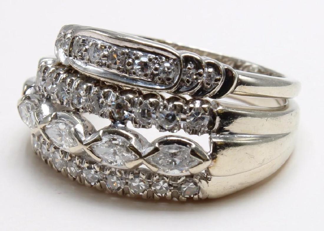 RINGS. DIAMOND. WEDDING BANDS. .94CTW