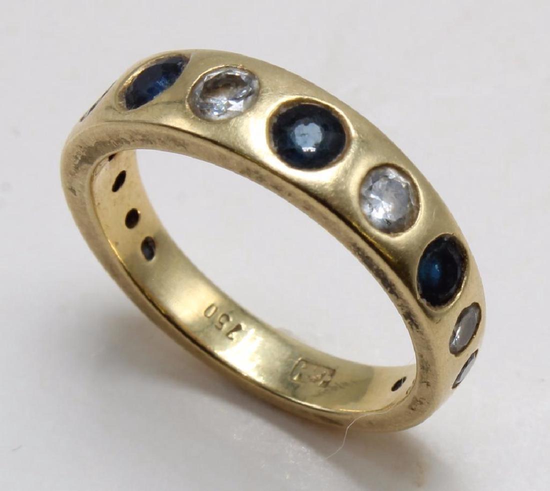 RING. SAPPHIRE AND DIAMOND. 18K YELLOW GOLD