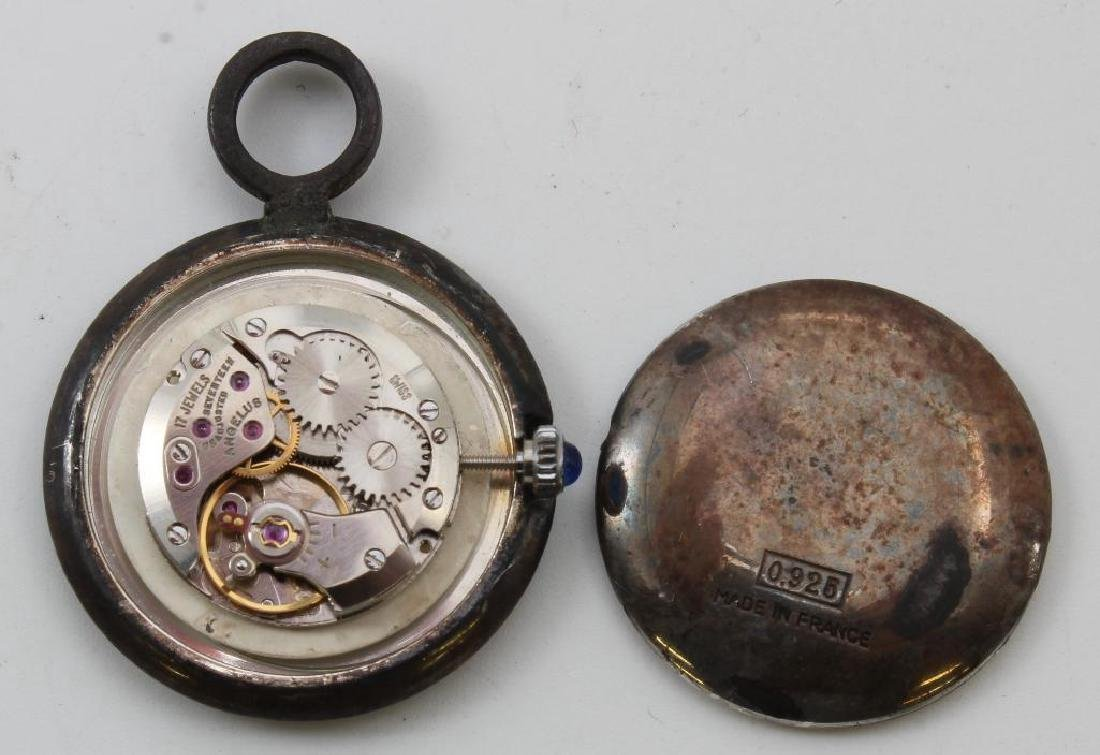 PENDANT WATCH. ANGELUS. STERLING SILVER. MADE IN FRANCE