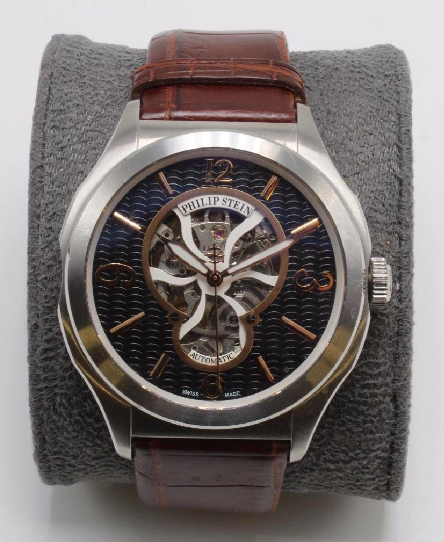 PHILIP STEIN PRESTIGE AUTOMATIC WRIST WATCH WITH