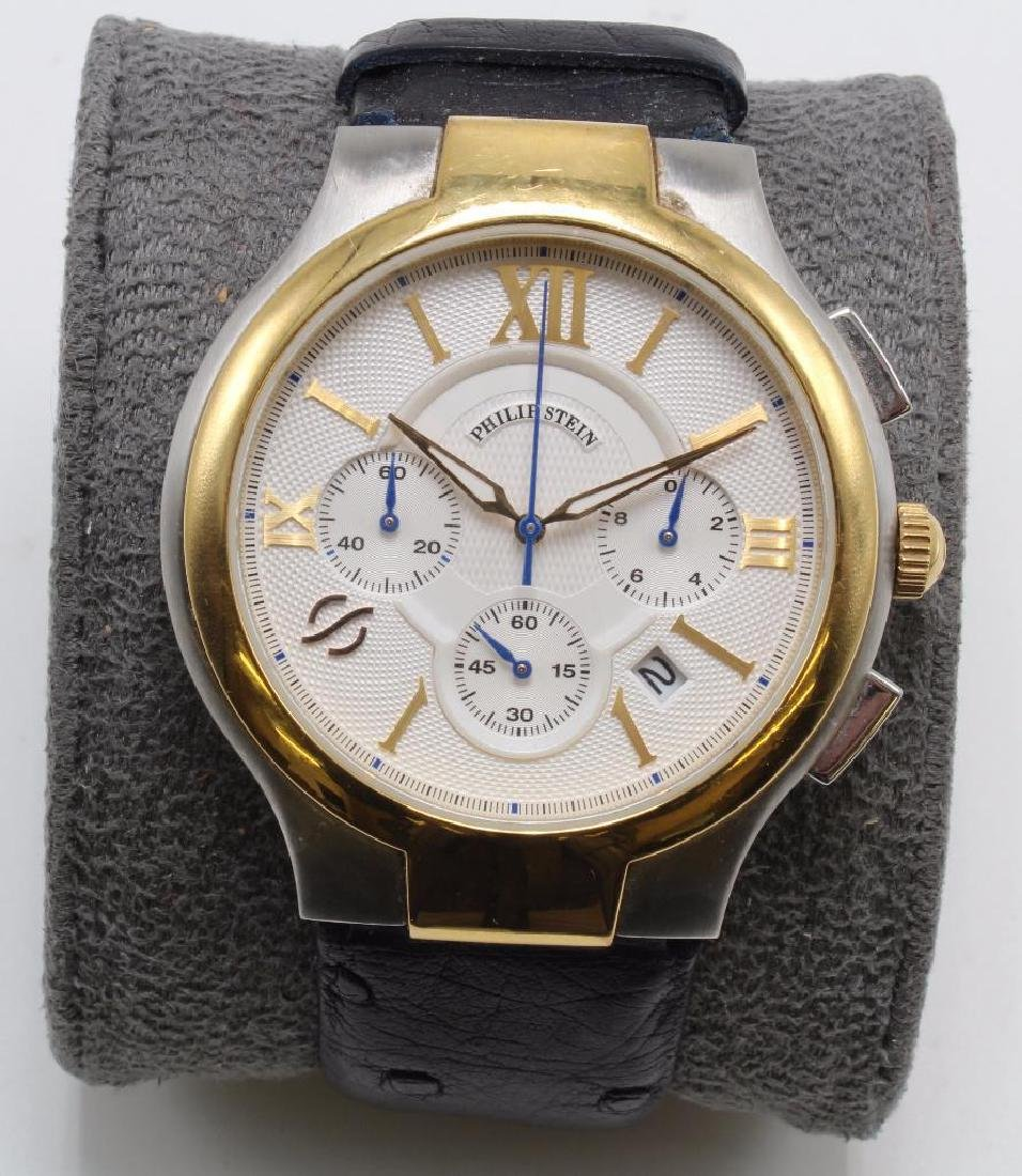 PHILIP STEIN SIGNATURE WRIST WATCH WITH NATURAL