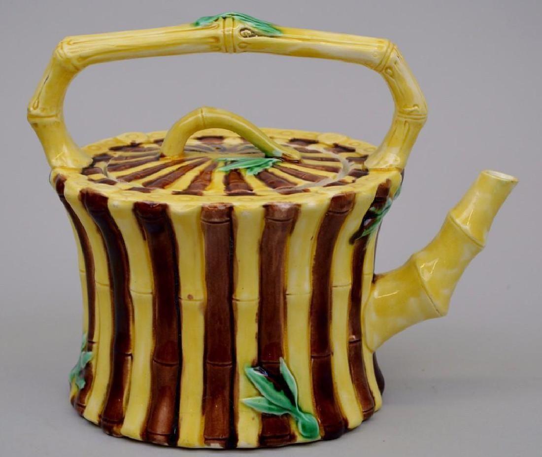 "Wedgwood Majolica ""Bamboo"" Teapot, 1871"