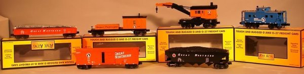 6010: MTH 6 Car Great Northern Freight Set Rail King