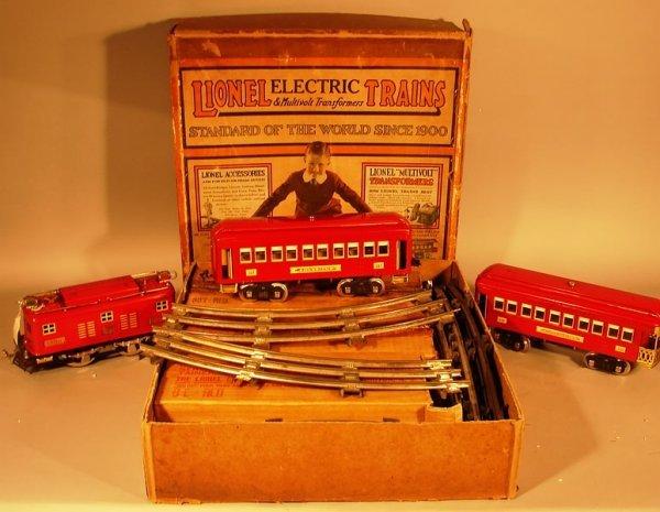 6024: Lionel Standard Gauge Set 347E Red OB