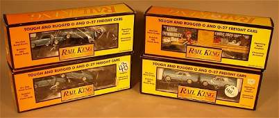 6036 MTH Rail King 4 Assorted Freight Cars