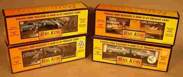 6036: MTH Rail King 4 Assorted Freight Cars