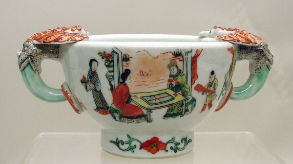 4001: Chinese Export Porcelain Famille Verte Rose Cup B