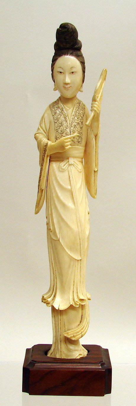 4009: Chinese Carved Ivory Figure of Maiden