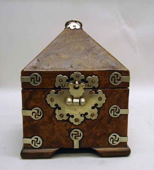 4053: Korean Burlwood Official Seal Box of Choson Perio