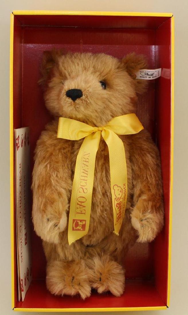 """12"""" MIB STEIFF 1993 MOHAIR MUSICAL TEDDYBEAR."""