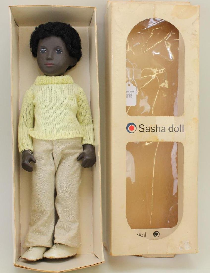 "ALL ORIGINAL 16"" SASHA BLACK BOY CALEB #4-309 DOLL,"