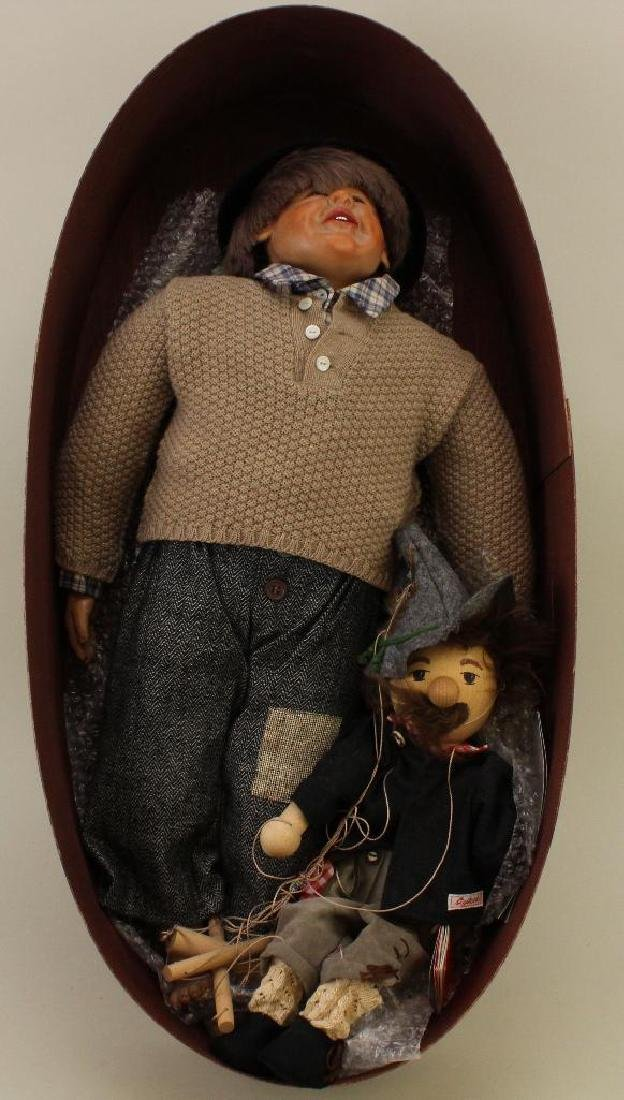 """25"""" MIB 1992 TAGGED SIGIKID DOLL AND MARIONETTE  BY"""