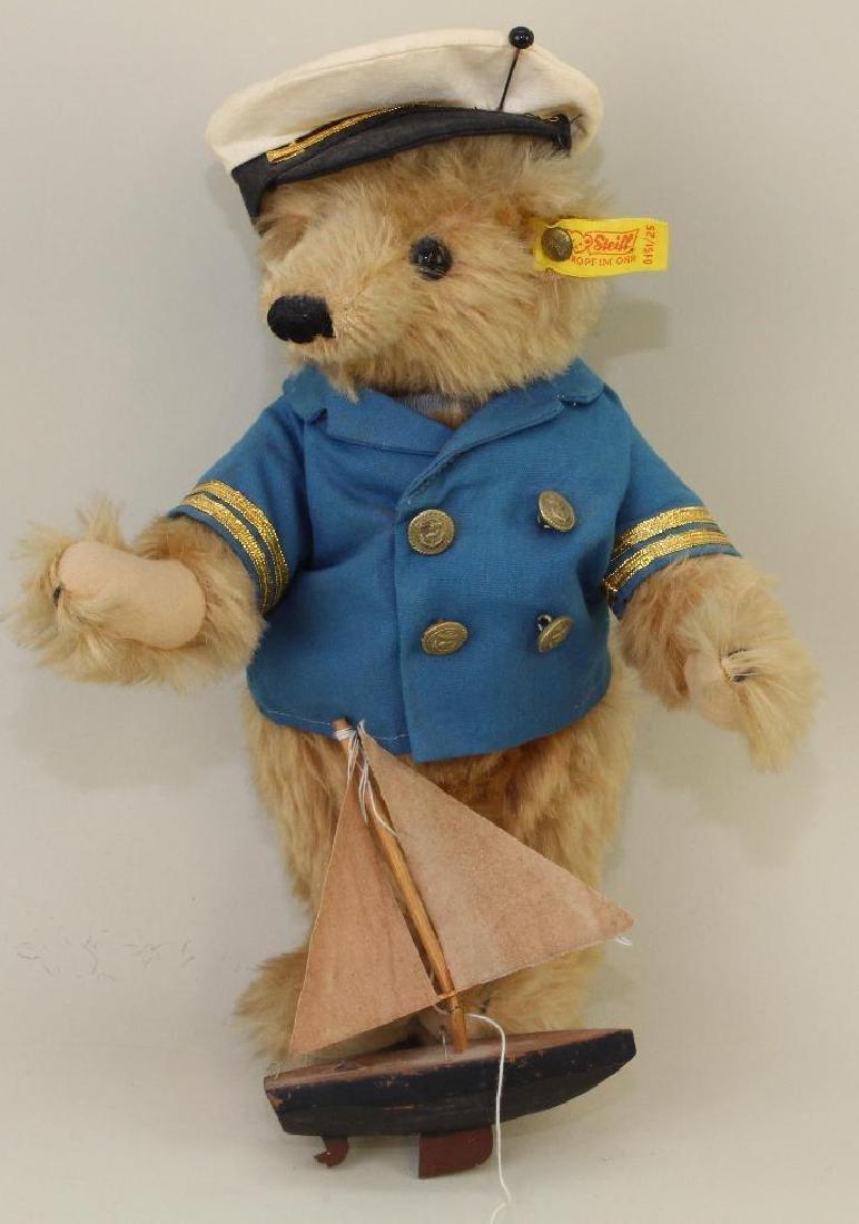 """10"""" TAGGED STEIFF  MOHAIR """"TEDDY BEAR""""."""