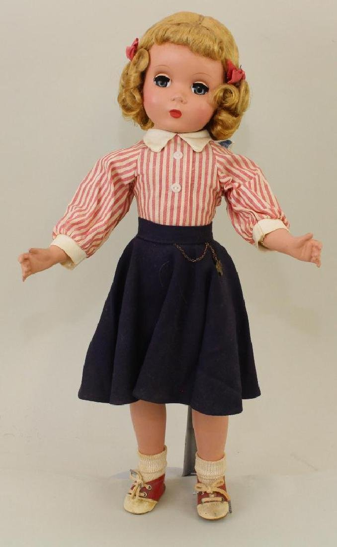 "18"" 1948-1956 TAGGED MADAME ALEXANDER DOLL, MAGGIE"