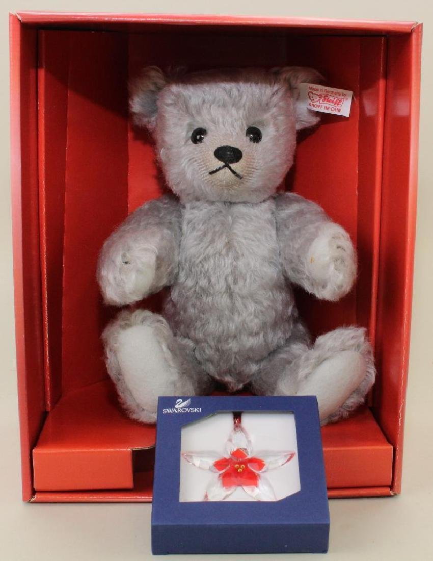 "10"" MIB STEIFF MOHAIR ""POINSETTA"" THE SWAROVSKI TEDDY"