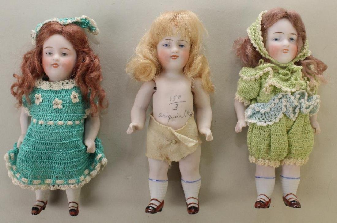 LOT OF (3) GERMAN ALL BISQUE DOLLS: 150 / 3.
