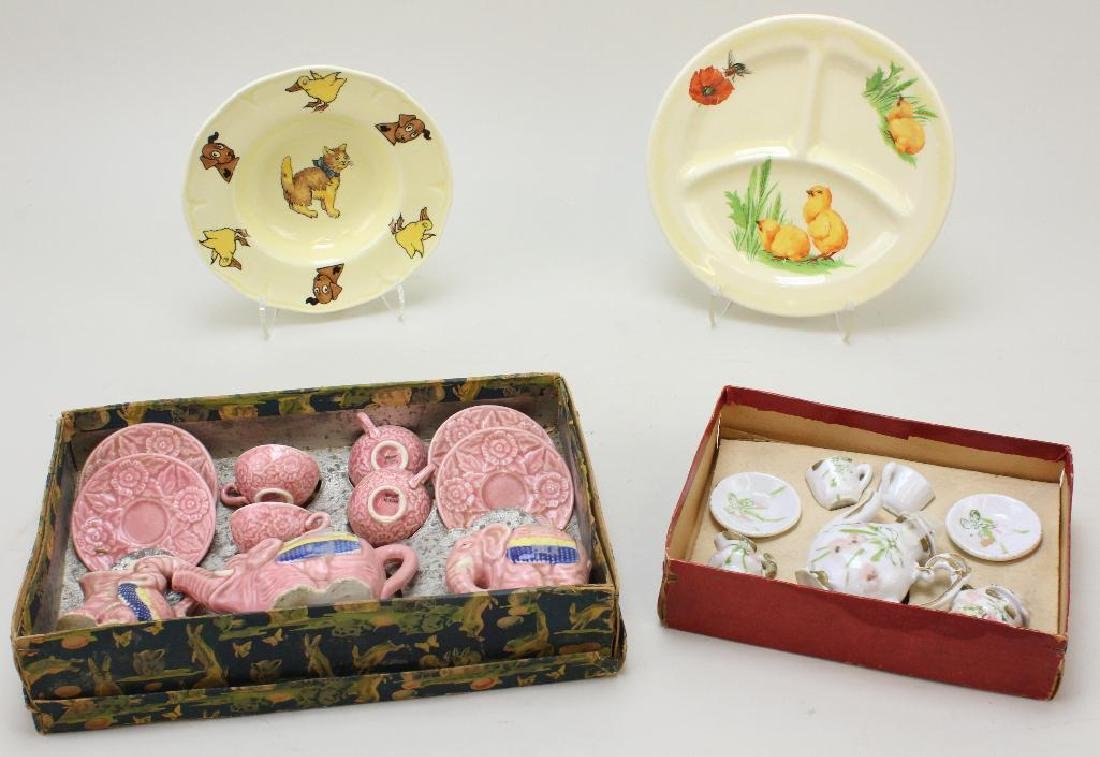 LOT OF ANTIQUE DOLL & CHILDREN'S CHINA.