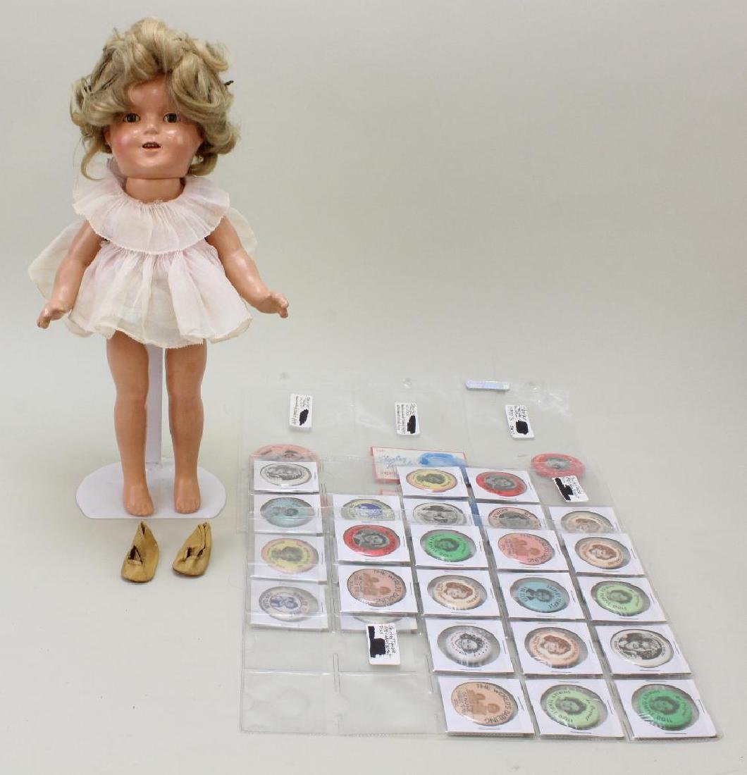 """SHIRLEY TEMPLE LOT: 13"""" COMPOSITION DOLL; ORIGINAL &"""