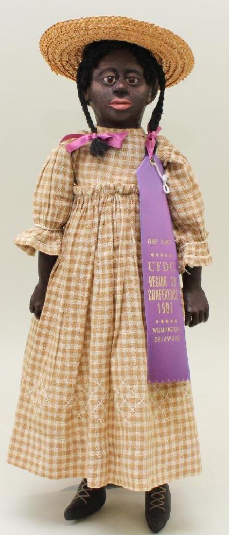 """RUTH CAMPBELL SIGNED BLACK CHARACTER DOLL """"BESSIE"""""""