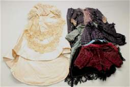 LOT OF VINTAGEANTIQUE DOLL CLOTHING