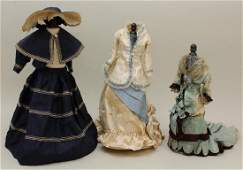 LOT OF ANTIQUE/REPRODUCTION DOLL CLOTHES.