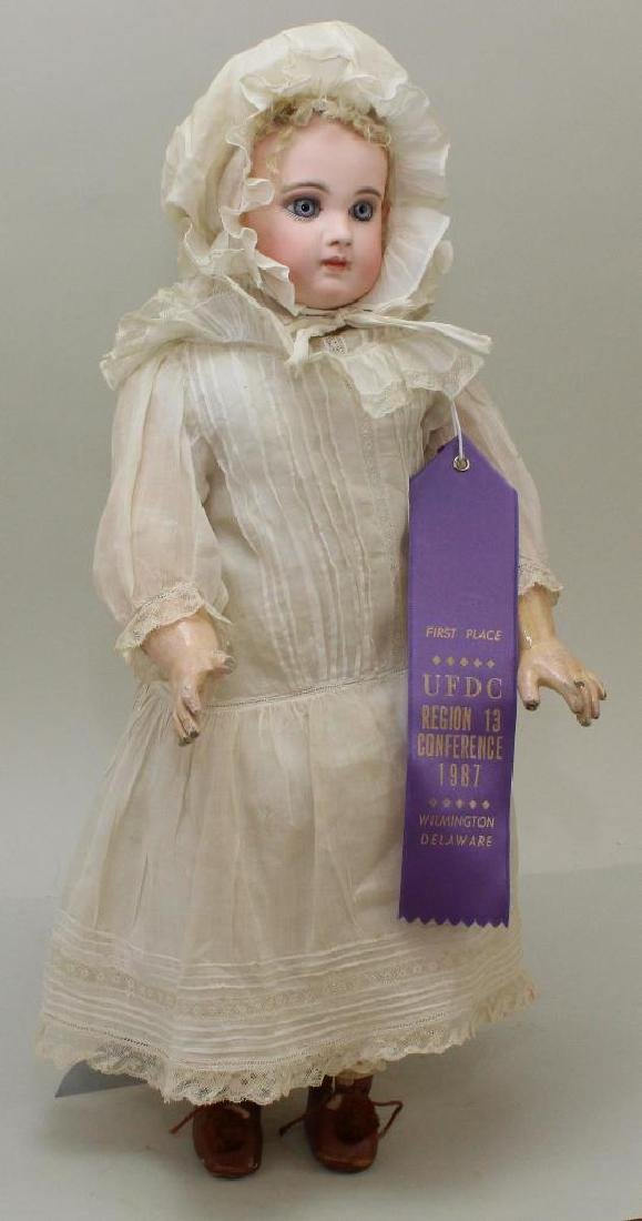 """19""""  EARLY JUMEAU MARKED 7 EJ  ANTIQUE BISQUE HEAD DOLL;"""
