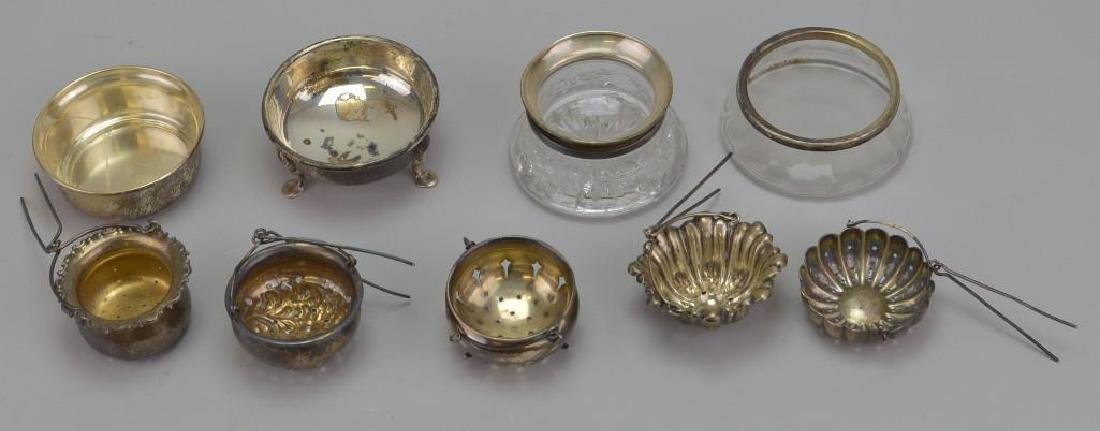 Sterling Silver Tea Strainer and Stand Grouping