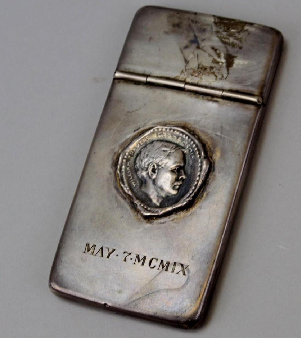 Business Card Holder. Sterling Silver. May 7 MCMIX.