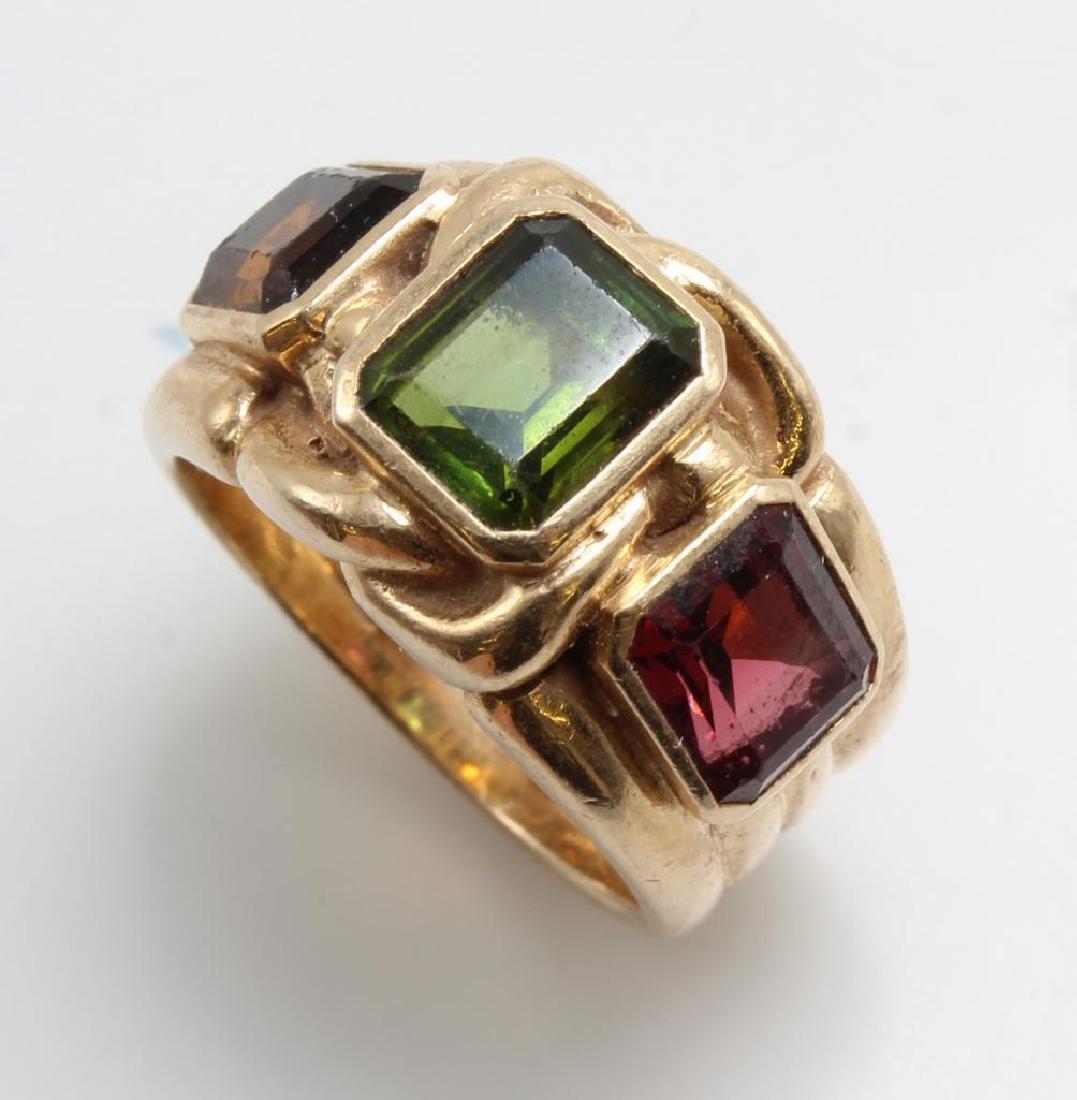 Ring. Tourmaline. 14K Yellow Gold