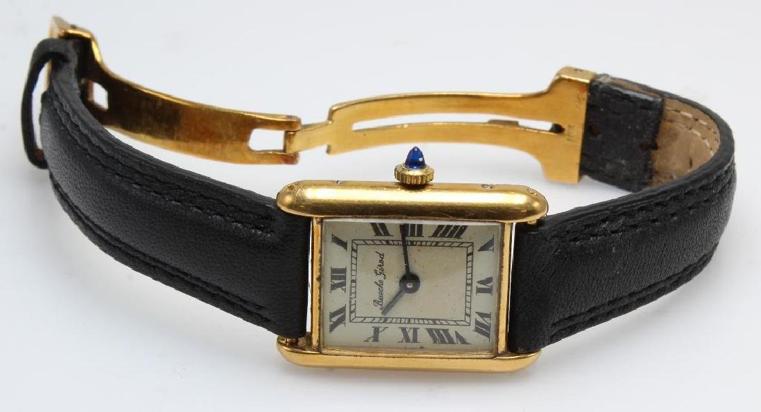 Bueche Girod Wrist Watch. 18K Yellow Gold Tank Style.