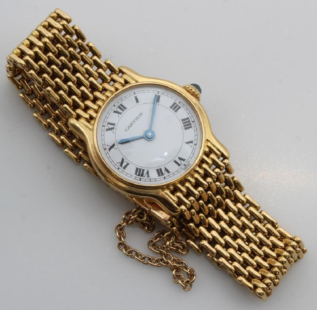 Cartier Wrist Watch. 18K Yellow Gold. Small Wrist
