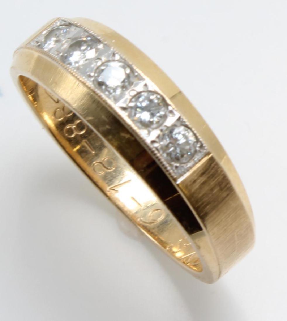 Ring. Diamond. 14K Yellow and White Gold