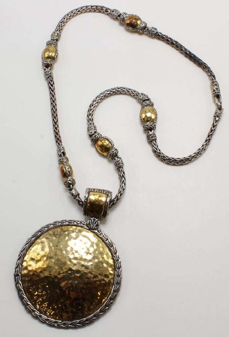 John Hardy Palu Necklace. Sterling and 22K Yellow Gold